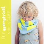 DIY geometrical kids scarf