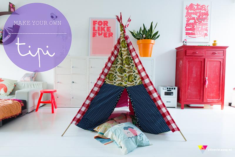 Tipi Tent Kinderkamer : Make your own tipi u2022 zilverblauw