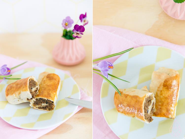 Brabantse vegetarische worstenbroodjes