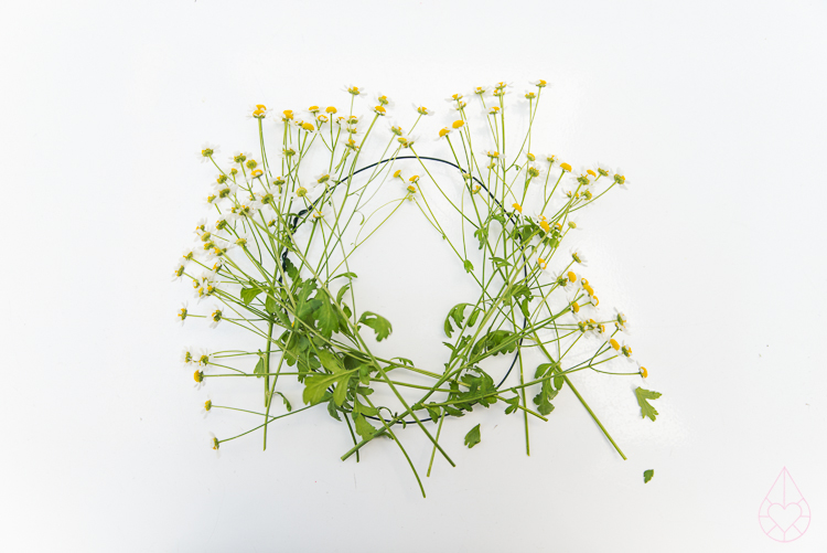 DIY flowercrown, by Zilverblauw.nl