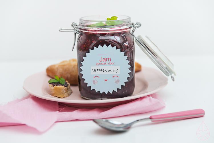 picking wild blackberries and making jam, by Zilverblauw.nl