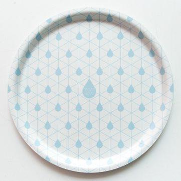 Zilverblauw tray drops