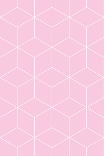 Wallpaper Hexagonal extra pink
