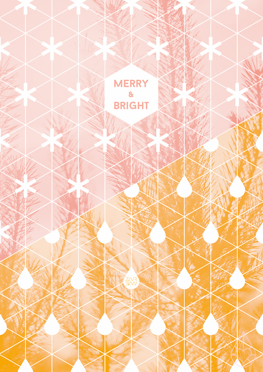 Merry & Bright: Free Christmas printable, by zilverblauw.nl