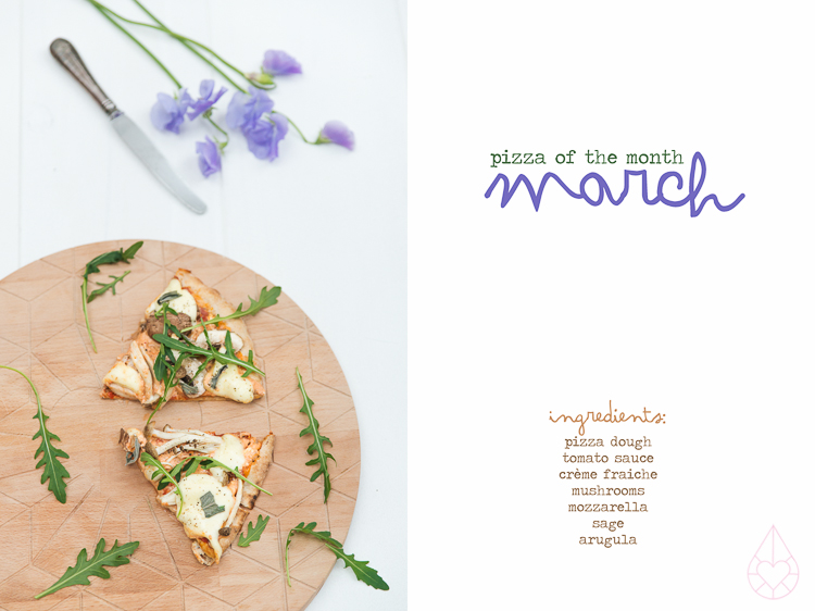 pizza of the month march, by zilverblauw.nl
