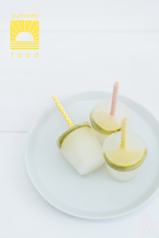 lime & elderflower popsicles, by zilverblauw.nl