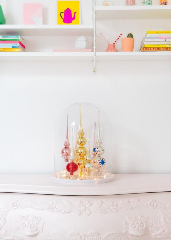 Kerst DIY: pieken stolp, by zilverblauw.nl