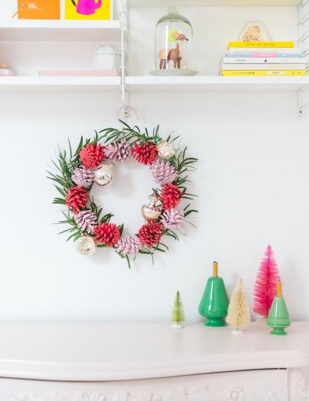 Kerst Diy Iv Kerstkrans Voor De Binnenstebuiten Kerstchallenge
