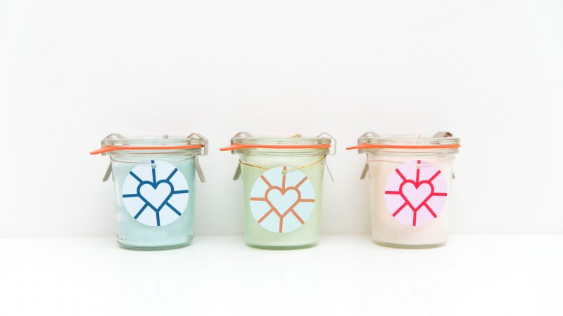 scented candles, by zilverblauw & Iscent.nl