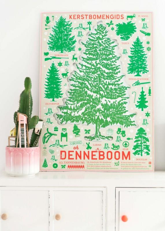 Studio Boot kerstbomenposter - zilverblauw.nl
