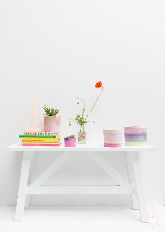 DIY flowerpots, by zilverblauw.nl