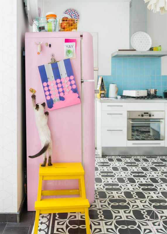 pink smeg fridge, by zilverblauw.nl