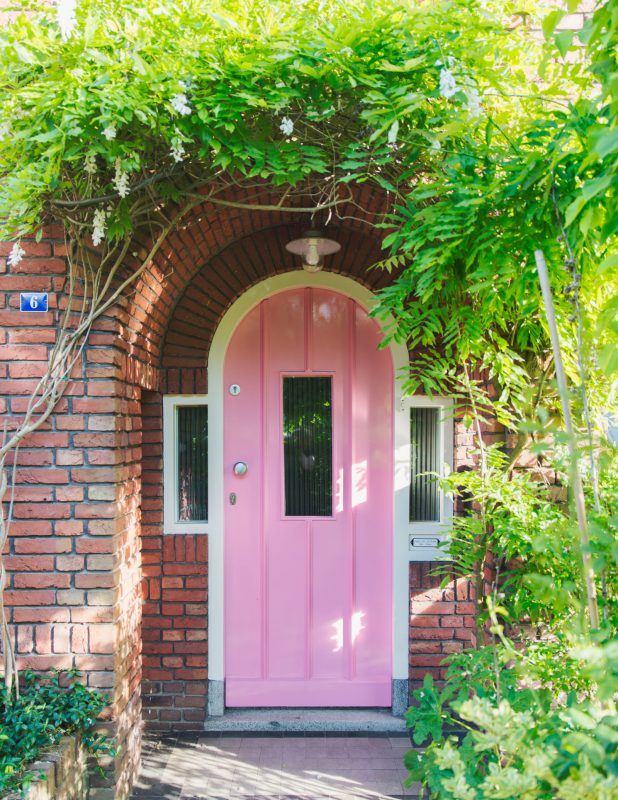 voordeur zilverblauw
