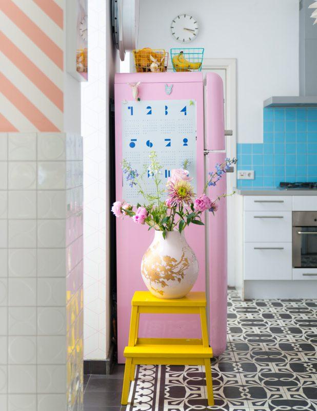 pink smeg fridge zilverblauw.nl
