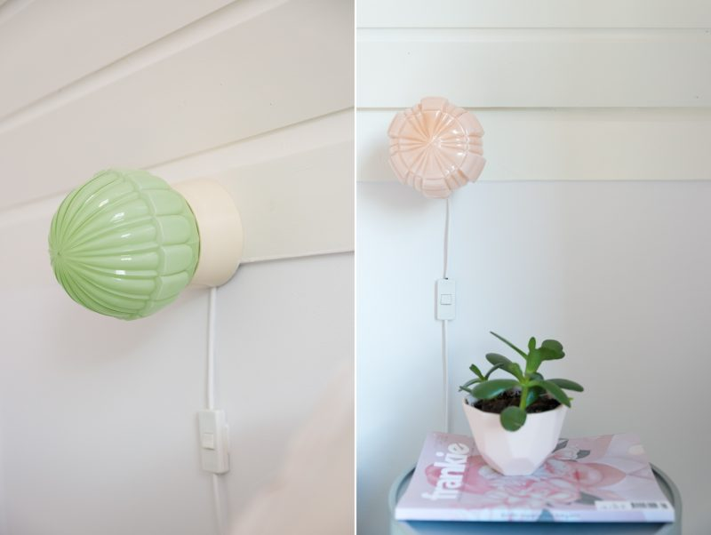 Oud glazen plafondlampje
