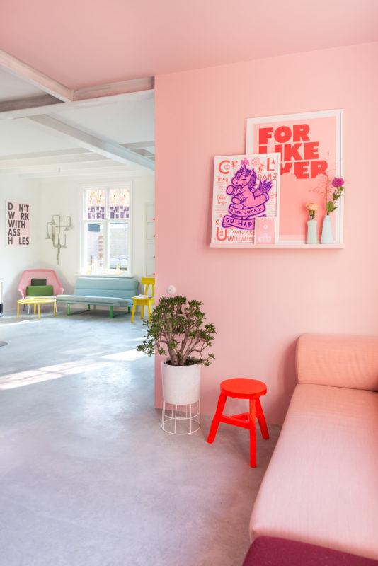 roze kamer zilverblauw
