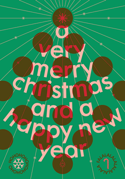 Poster Zilverblauw Christmas