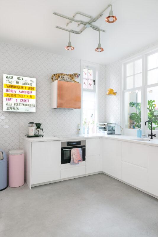 keuken vintage letterbord
