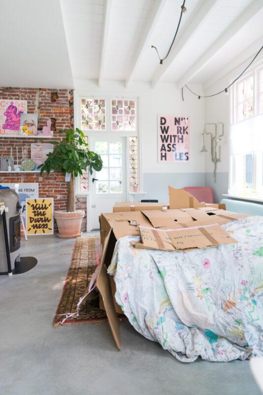 hutten maken met karton en dozen