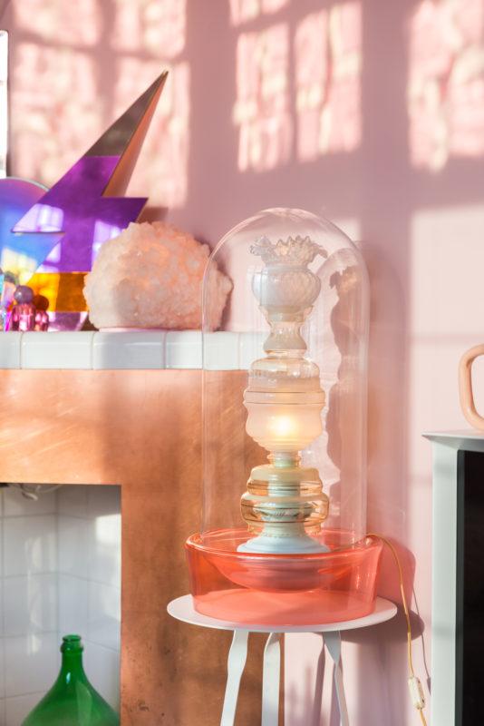 oude lampenkapjes opstapelen