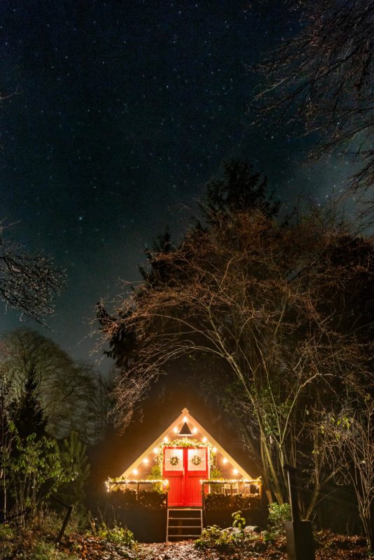 a-frame under the stars
